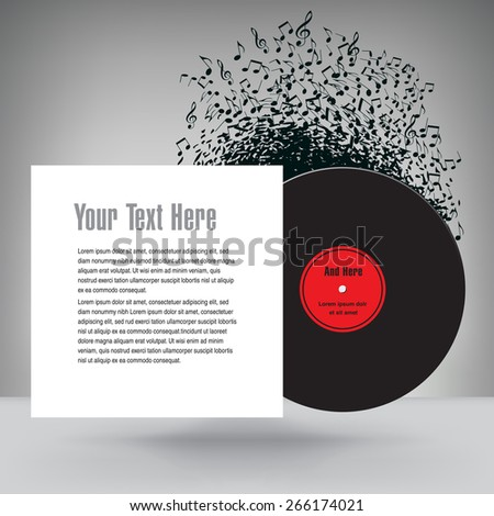 Music Background with White Space for Text  - stock vector