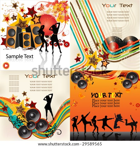 Music backgrounds - stock vector