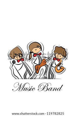 Music band, background - stock vector