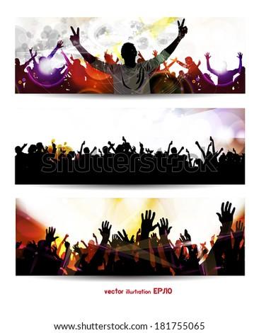 Music banners set. Vector - stock vector