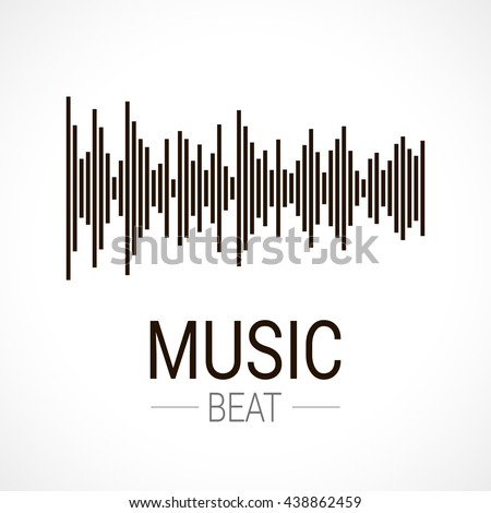 Music beat. Abstract equalizer. Sound Wave. Audio equalizer technology.  - stock vector