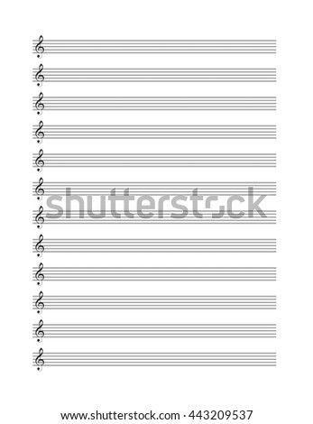 music blank note stave vertical music books