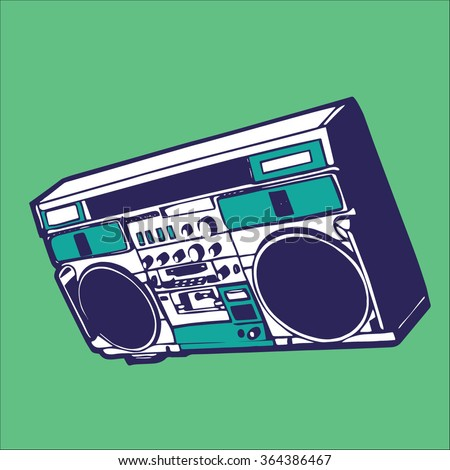 music boombox vector stock vector hd royalty free 364386467 rh shutterstock com boombox vector image boombox vector png