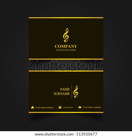 Music Business Card Template Stock Vector Shutterstock - Music business card template