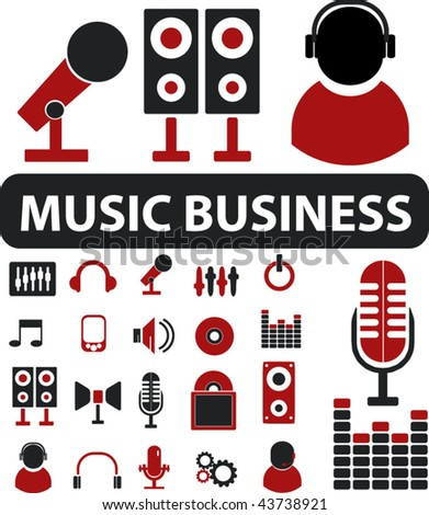 music business signs. vector - stock vector