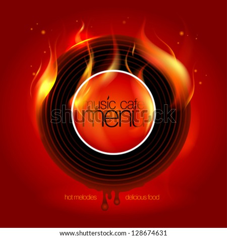 Music Cafe Menu Card Design template. Eps10 Vector. - stock vector