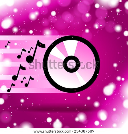 music cd icon - stock vector