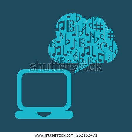 music cloud design, vector illustration eps10 graphic