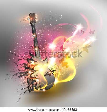 Music color background - stock vector