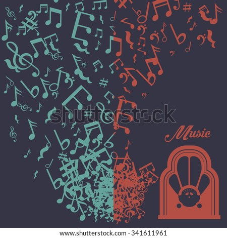 music concept about sound  icons design, vector illustration 10 eps graphic. - stock vector