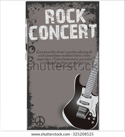 music concert poster - stock vector