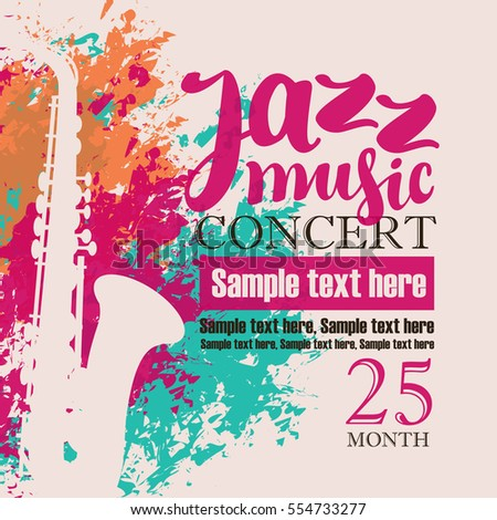 Music Concert Poster Jazz Stock Vector 554733277