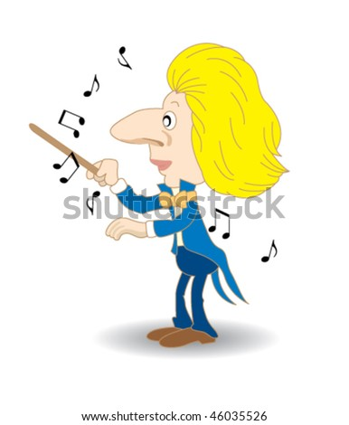 music conductor - stock vector