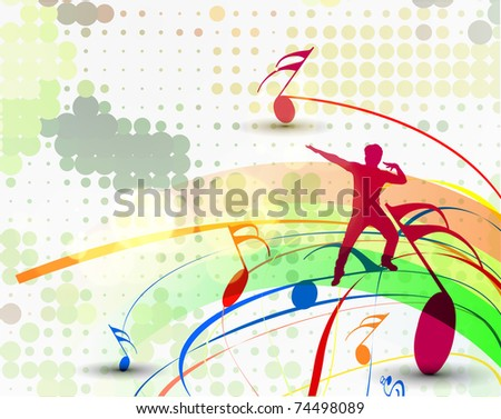 Music dancing background elements design. - stock vector