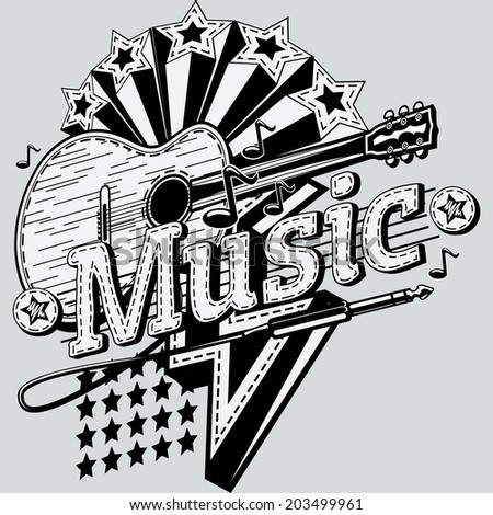 Music design - stock vector