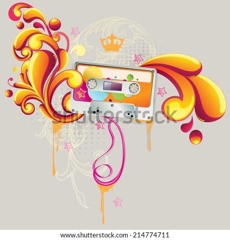 Music design - stock vector