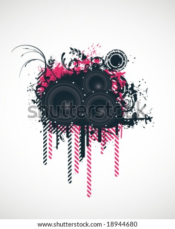 Music Design Elements Vector Illustration
