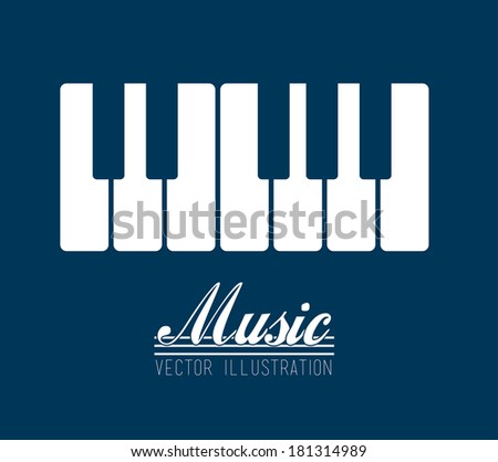 music design over blue background vector illustration - stock vector
