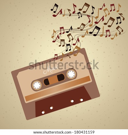 music design  over  brown background vector illustration