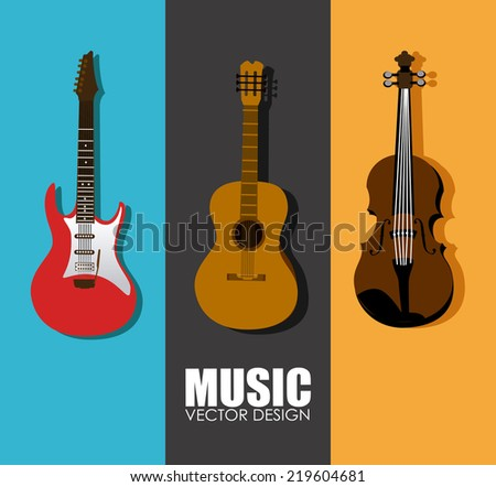Music design over colorful background, vector illustration