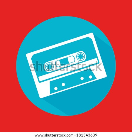 music design over red background vector illustration - stock vector