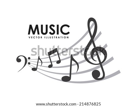 music design over  white background vector illustration - stock vector