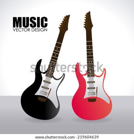 Music design over white background, vector illustration - stock vector