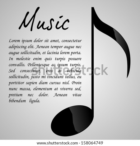 Music Design Template | EPS10 Vector - stock vector