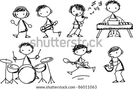 Music Doodles - stock vector