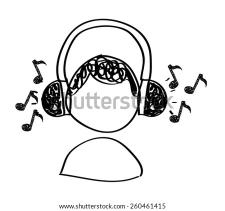 music drawing design, vector illustration eps10 graphic  - stock vector