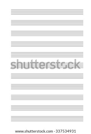 music empty blank note stave a4 sheet