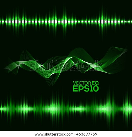 Music Equalizer. Abstract Sound Waves Background. Vector Illustration