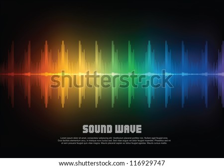 Music equalizer wave. Vector illustration