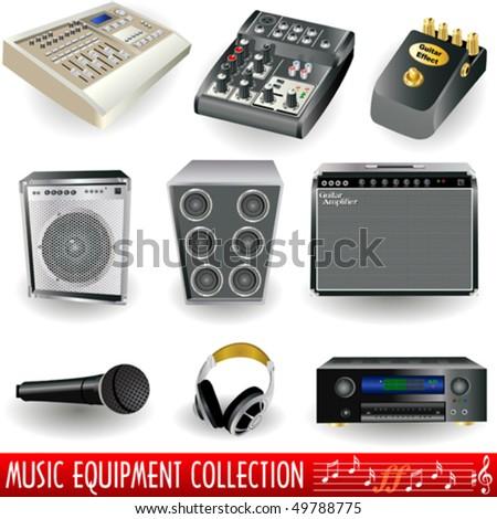 Music equipment - stock vector