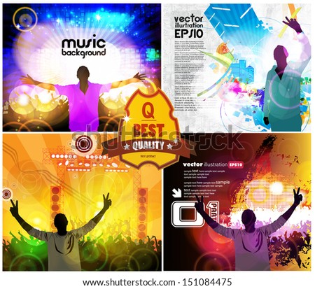 Music event illustration  - stock vector
