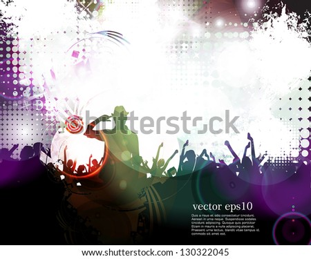 Music event illustration. Vector - stock vector