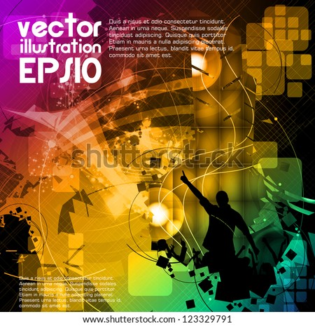 Music event poster - stock vector