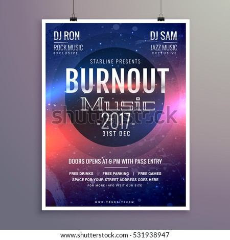 Music Flyer Brochure Poster Template Your Stock Vector