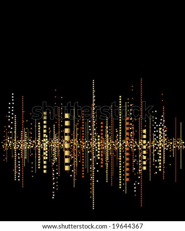 Music frequencies background - stock vector