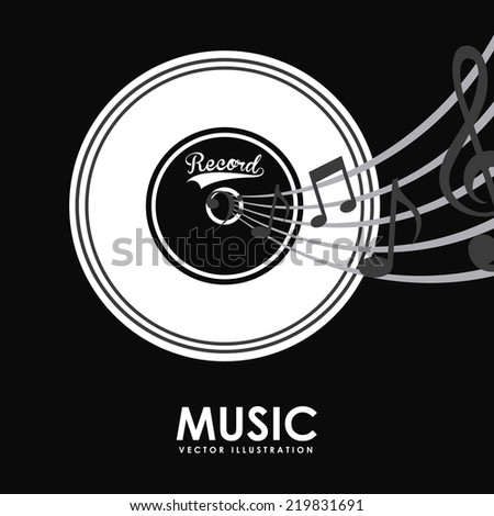music graphic design , vector illustration