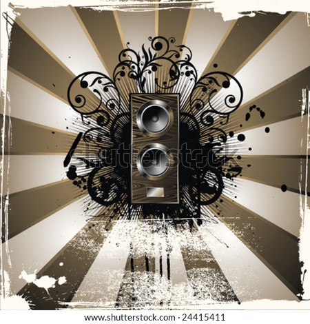 Music grunge backgrounds - stock vector