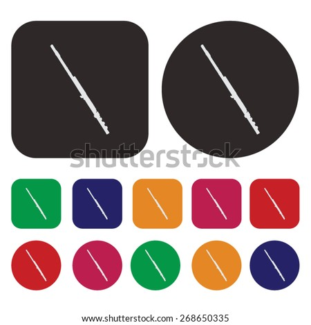 Music icon / flute icon - stock vector