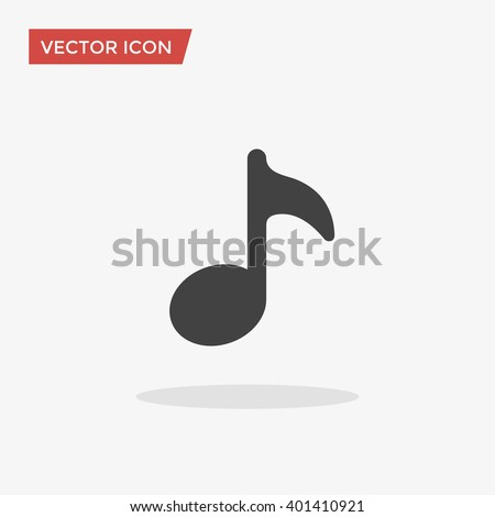Music Icon in trendy flat style isolated on grey background. Note symbol for your web design, logo, UI. Vector illustration, EPS10. - stock vector