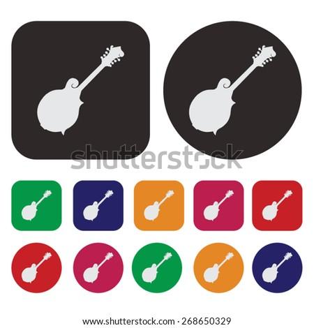 Music icon / mandolin icon - stock vector