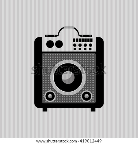 Music icon. Retro concept. Flat illustration