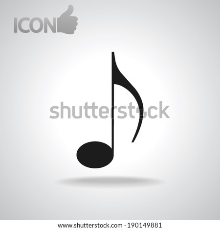 Music icon, vector illustration. Flat design style - stock vector