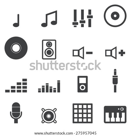 Music Icons - stock vector