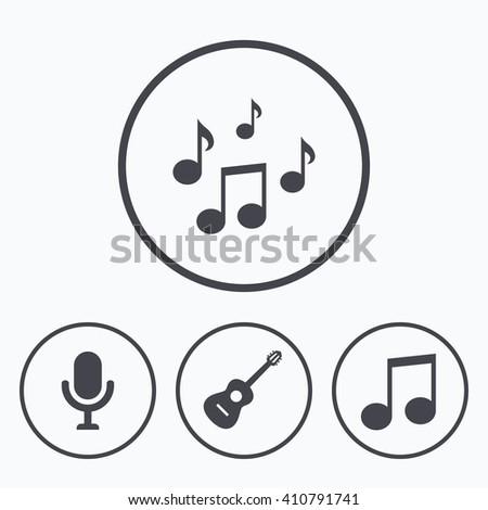 Music Icons Microphone Karaoke Symbol Music Stock Vector 410791741