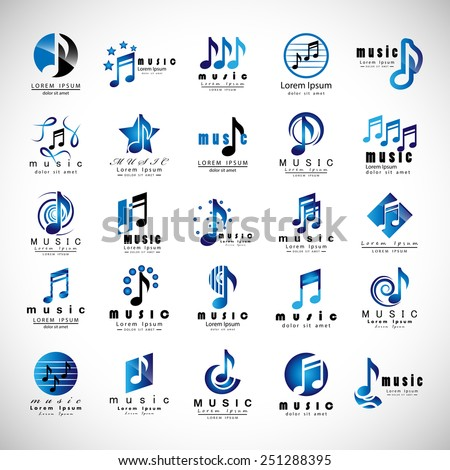 Music Icons Set - Isolated On Gray Background - Vector Illustration, Graphic Design, Editable For Your Design   - stock vector