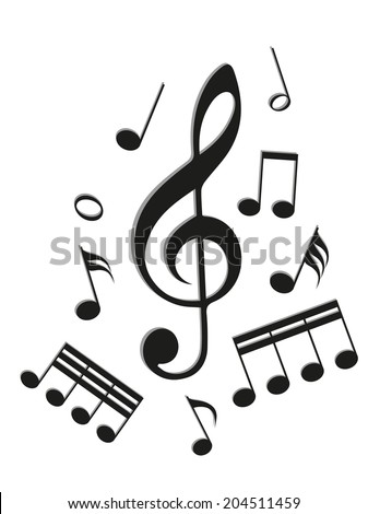 Music icons, vector illustration in EPS10. - stock vector